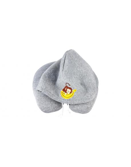 Walser Hoodie Neckroll Monkey grey from 5 years