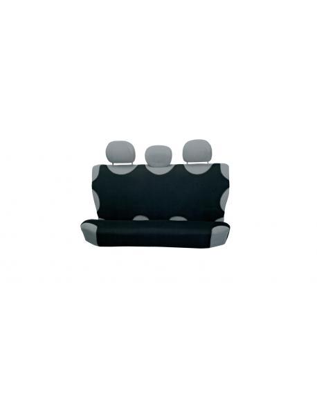 4CARS T-shirt Seat Cover, back seats, black